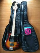 Fernandes Electric Bass 3 Tone Sunburst With Soft Case Ships Safely From Japan