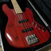 Atelier Z M-245 Tp-rd Electric Bass Transparent Red Ships Safely From Japan