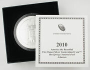 2010 P Hot Springs America The Beautiful 5 Oz Silver Coin Np1 Collector Version