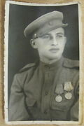 Photo Soviet Russia Medal Combat Service And Defensive Stalingrad