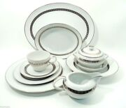 52 Pc Set Harmony House Fine China Candleglow Svc For 8 W/ Serving Pcs Japan
