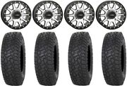 System 3 Sb-3 Machined 15 Wheels 35 X Comp At Tires Polaris Rzr Turbo S / Rs1
