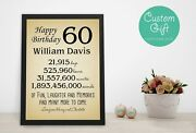 Personalized Poster Customized Birthday Gifts For Father Grandpa Custom Poster