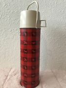 Vintage Winchester Hunting Plaid King Seeley Thermos Squirrel Moose W/handle