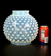 Big 10 Antique Victorian Opalescent Glass Hobnail Oil Lamp Globe Gwtw 6 Fitter