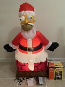 Gemmy Inflatable Christmas The Simpsons Homer As Santa In Chimney 4 Foot Rare