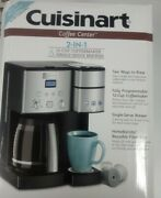 Cuisinart Coffee Center 12-cup Coffee Maker And Single-serve Brewer-silver-new.