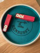 Vintage Hennessy Cognac Dice Set — 6 Dice And Felt Dice Tray | Rare Collectible