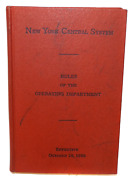 1956 Vintage Rules Of The Operating Department New York Central System Railroad