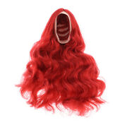 1/6 Scale Long Curly Hairpiece Hair Extensions For 12 Inch Female Figure Head