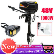 48v 1000w Electric Outboard Trolling Motor Fishing Boat Engine Propeller Us-fast