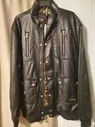 Lifted Research Group Genuine Leather Jacket Retro Vintage Streetware Moto Biker