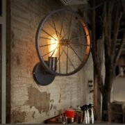 Retro Wheel Vintage Lamps Wall Mounted Plated Technics Light For Home Essentials