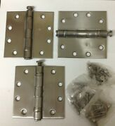 3 Hager Architectural Heavy Duty Ball Bearing Stainless Steel Door Hinges 4.5
