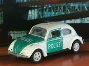 1966 66 Vw Volkswagen Police Polizei Car Beetle 1/64 Scale Limited Edition O18