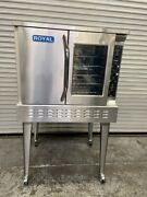 Gas Convection Oven Full Size Bakery Depth On Wheels Royal Range Rcod-1 5363