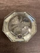 Vintage American Cut Crystal Corp Hand Cut Glass Trinket Box Made In Usa