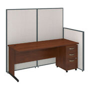 72w C-leg Desk With Panels And 3 Drawer Mobile Pedestal Bshppc022lg