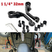 Motorcycle Highway Foot Pegs Peg 1 1/4 32mm Long Angled Mounting Kit For Harley