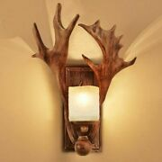 Wall Mounted Frosted Glass Lamps Antler Designed Industrial Vintages Lamp Lights