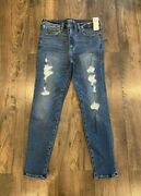 Nwt Women's Abercrombie And Fitch Simone High Rise Super Skinny Jeans 30/10 Short
