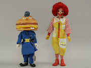 Vtg 1970s Mcdonaldand039s Officer Big Mac W/whistle And Ronald Remco Dolls Figures Ex