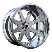 Tis 551p 22x12 5x127/5x139.7 Et-44 Full Polished With Milled Lip Logo Qty Of 4