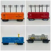 Lionel O Gauge 2465 Tanker Baby Ruth X6034 X6014 Boxcars 3376 Bronx Zoo Poles