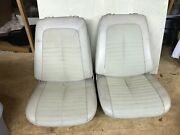 1969-1972 Gto Monte Carlo 442 Buick Gs Chevelle Ss Front Bucket Seats Pair