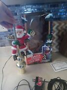 Mr Christmas Santa Clause Tree Top Animated Lighted Lantern Topper