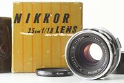 Rare【 Mint In Box 】 Nikon W Nikkor 3.5cm 35mm F/1.8 S Mount Lens From Japan 478