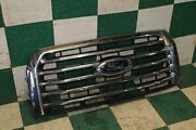 15-17 F150 Xlt Chrome Surround Grille Assembly W/five Chrome Bars Factory Oem