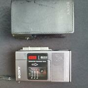 Sony M-88 Microcassette-corder Silver Free Shipping Japan With Tracking. K2171