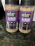 X2 Weber Sweet Cracked Pepper Dry Rub 12.2 Oz  Discontinued See Details