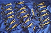 20 Pinking Shears Scissors Nipperstailordrycleaner Vintage 7 Wiss Free Us Ship