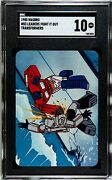 1985 Hasbro Transformers Action Cards Leaders Fight It Out Sgc 10 Not Psa