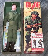 Gi Joe Vintage 1964 Action Soldier With Box 2 T.m Looks Not Played With Brown