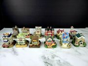Lot Of 12 The Americana Collection Liberty Falls Vintage 1992 Small Town Set
