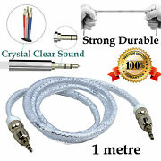 1m Aux In Auxiliary Extension Cable Stereo Audio Car For Onkyo Sonos Toshiba