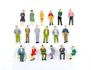 50 Pcs O Gauge 150 Scale Painted Figures For Model Train Railway Layout People