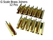 G Scale Model Train Brass Track Rail Joiners 12 Pieces