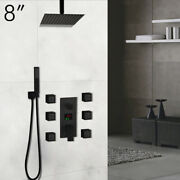 8and039and039bathroom Rainfall Handheld Shower Head 6 Body Sprays Shower Faucet Set System
