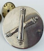 Vintage Crossed Cannons Field Artillery Badge Insignia Pin