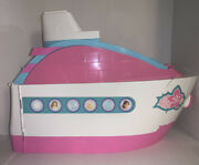 Barbie Party Cruise Ship Yacht Mattel 2007 White Pink And Blue