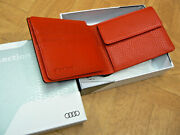 Audi Sports Mens Wallet Made Of Cowhide Leather Purse 3141401500 New