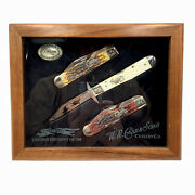 Case Cheetah 3 Knife Set 6111 1 2l Ss Knives Limited Edition Peach Seed Bone