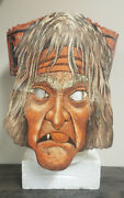 Vintage 1930/40andrsquos Halloween Beistle Old Woman Witch Diecut Crepe Paper Mask
