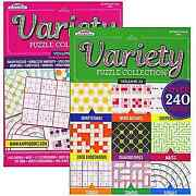 Assorted Wholesale Lot Of Puzzle And Games Activity Books Case Of 48