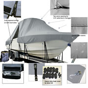 Cutwater C-28 Cabin Cruiser T-top Hard-top Fishing Storage Boat Cover