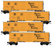 Micro-trains Mtl N-scale Pacific Fruit Express/pfe/up Reefers - Runner 4-pack